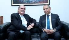 جريصاتي التقى السفير المصري لمناسبة انتهاء مهامه في لبنان