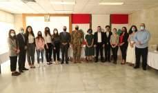 قائد الجيش استقبل فداً من طلاب العلوم السياسية في الجامعة اليسوعية