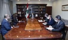 الرئيس عون: حريصون على استمرار علاقات الصداقة مع اميركا ومعاودة التفاوض لترسيم الحدود