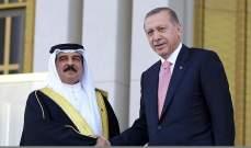 الرئيس التركي لملك البحرين: واثق من إمكانية إيجاد إسهامات لحل مشاكل مشتركة عدة تواجه المنطقة