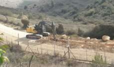 النشرة: انفجار لغم ارضي بجرافة اسرائيلية تعمل على تجريف أراضي مقابل العديسة