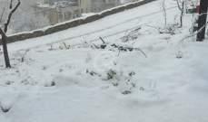الثلوج غطت المناطق كافة على ارتفاع 800 م وما فوق في منطقة جزين