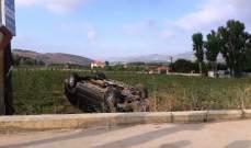 النشرة:  تدهور سيارة على طريق الخيام- القليعة والأضرار مادية