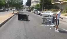 النشرة: محتجون يقطعون الطريق قرب شركة الكهرباء في صيدا إحتجاجاً على انقطاع التيار