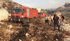 النشرة: إخماد حريق هشير في وادي بلدة كفرحتى شرق صيدا