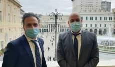 قنصل لبنان في جنوى عرض مع مسؤول إيطالي للأوضاع الراهنة وسبل التعاون