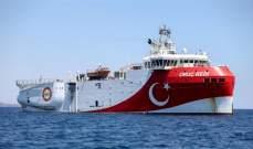 """تمديد مهام سفينة """"الريس عروج"""" التركية للتنقيب شرقي المتوسط لغاية 29 الحالي"""