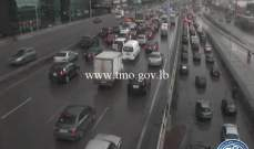 التحكم المروري: حركة المرور كثيفة من انطلياس باتجاه جل الديب