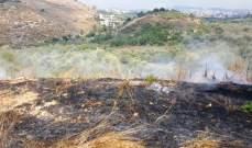 الدفاع المدني: إخماد حرائق أعشاب يابسة في زحلة وعكار وبرجا والبقاع الغربي
