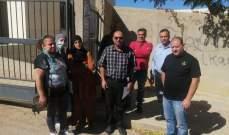 وقفة احتجاجية امام تجمع المدارس الرسمية في مدينة بعلبك
