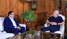 فرنجيه استقبل موفد من جنبلاط ببنشعي: لتعزيز العلاقات واستمرار التواصل لما فيه مصلحة البلد