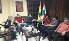 مسؤول حزب الله بصيدا عرض مع وفد من لجنة حي الطيرة للأوضاع في مخيم عين الحلوة