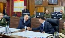 الأسد وبوتين استمعا إلى عرض عسكري من قبل قائد القوات الروسية في سوريا