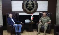 قائد الجيش عرض مع جنبلاط الأوضاع العامة في البلاد