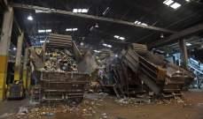 بوابة معمل النفايات في صيدا فتحت أمام الشاحنات والعمال يواصلون إضرابهم