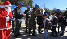النشرة: الكتيبة الهندية احتفلت بالميلاد في معظم المدارس الواقعة ضمن منطقة عملها