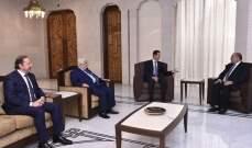 الأسد قبل أوراق اعتماد سعد زخيا سفيرا للبنان لدى سوريا