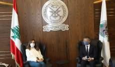 عكر عرضت مع ممثل المفوضية العليا لشؤون اللاجئين المساعدات الإنسانية المقدمة للبنان