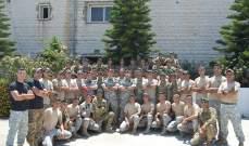 الجيش: تخريج دورة تدخل 36 في مدرسة القوات الخاصة حامات