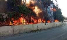 حريق في منازل وخيم يقطنها سوريون في العاقبية
