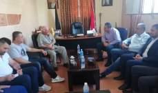 اللواء أبو عرب بحث مع وفد من الأنروا الأوضاع العامة في المخيمات الفلسطينية