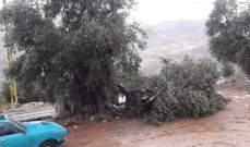 النشرة: إرتفاع منسوب مياه الحاصباني نتيجة الأمطار الغزيرة