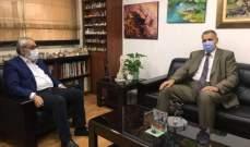بقرادونيان عرض مع كوبيتش آخر المستجدات على الساحة اللبنانية
