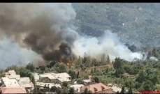 """أهالي بلدة شارون يناشدون عبر """"النشرة"""" اخماد الحريق المندلع من الصباح"""