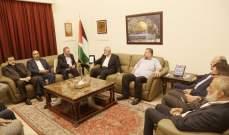 هنية زار سفارة فلسطين في بيروت واتصل بعباس: لتفعيل المقاومة الشاملة بكل أشكالها