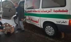 النشرة: جرحى من مسعفي فرق جمعية الرسالة بتصادم على أوتوستراد انصارية