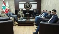 قائد الجيش التقى وفدا من عائلة علاء أبو فخر شكره على مواساته واهتمامه