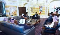 رئيس حكومة تصريف الأعمال استقبل وزير خارجية قطر على رأس وفد