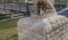 قوى الأمن: توقيف شخص في وادي الزينة حطّم تماثيل في حديقة بلدية الرميلة