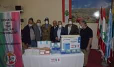 """الكتيبة الإيطالية باليونيفيل قدمت جهاز """"PCR"""" هبة لمستشفى بنت جبيل الحكومي"""