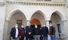 مدير مكتب وزير الصحة ومدير مكتب ابي رميا زاروا مستشفى قرطبا الحكومي