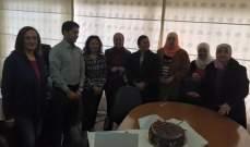 مدير كلية الاعلام الفرع الاول رامي نجم كرم الامهات الموظفات في الكلية