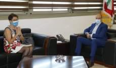 ممثلة اليونيسف زارت وزير الصحة: لتعزيز الشراكة والاستمرار بالعمل على احتواء كورونا