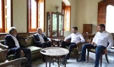 طوني فرنجية بحث ووفد بلدية إهدن زغرتا شؤونا إنمائية