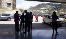 وقفة اعتراض لموظفي مستشفى جزين الحكومي