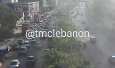 حركة المرور كثيفة من الدورة باتجاه الكرنتينا بسبب توقف للشاحنات