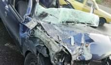 سقوط 6 جرحى جراء حادث سير على طريق عام عميق- البقاع الغربي