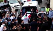 أهالي بلدة حومين الفوقا شيعوا شوقي علوش الذي قضى بانفجار مرفأ بيروت