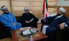 الشيخ احمد قبلان استقبل رئيس حركة الإصلاح والوحدة ورئيس حركة قولنا والعمل