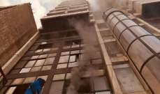 اطفاء بيروت يعمل على اخمالد حريق في منبى في الطريق الجديدة