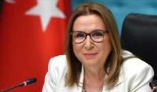 وزيرة التجارة التركية: زيادة صادرات البلاد 2.9 بالمئة خلال أول 8 أشهر من 2019