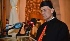 الراعي: البابا فرنسيس يحمل القضية اللبنانية وقضية الوجود المسيحي في عمق اعماق قلبه