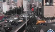 جريح نتيجة تصادم بين سيارتين على طريق عام المكلس باتجاه المنصورية