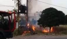 الدفاع المدني: إخماد حريق محول للطاقة الكهربائية واعشاب  في قصرنبا