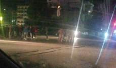 النشرة: تجمع لعدد من المحتجين عند تقاطع إيليا بصيدا