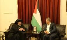 دبور استقبل وفدا من حماس ورئيس دير الروم الملكيين الكاثوليك برام الله